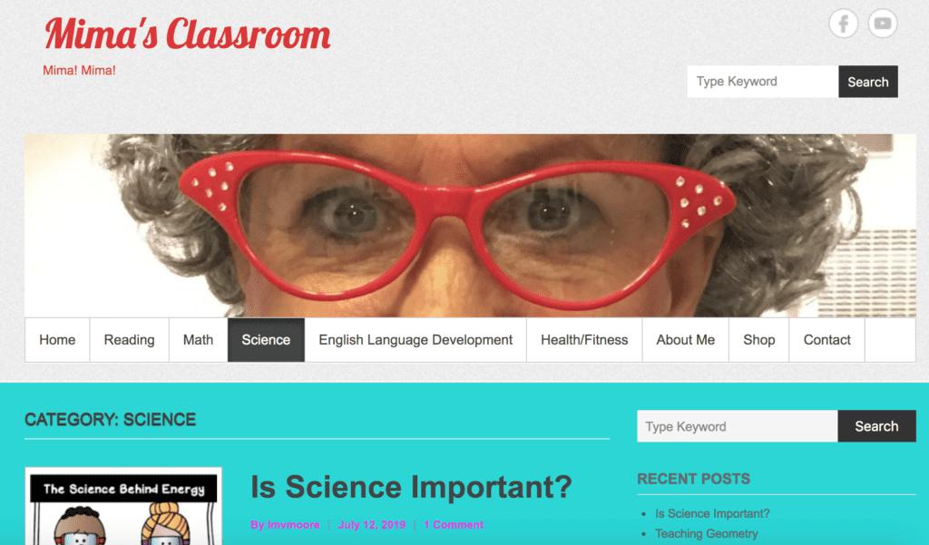educational blog by teacher