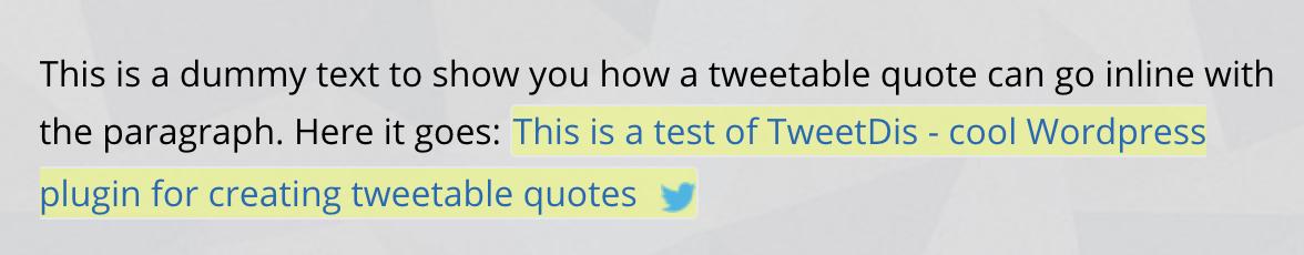 WordPress TweetDis plugin