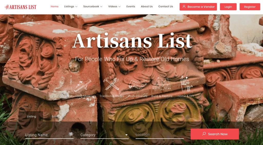 artisans list side hustle website