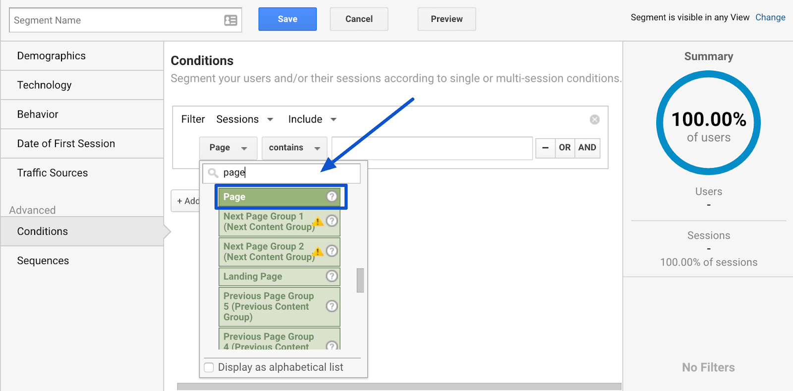 google analytics define step of sales funnel with custom segment