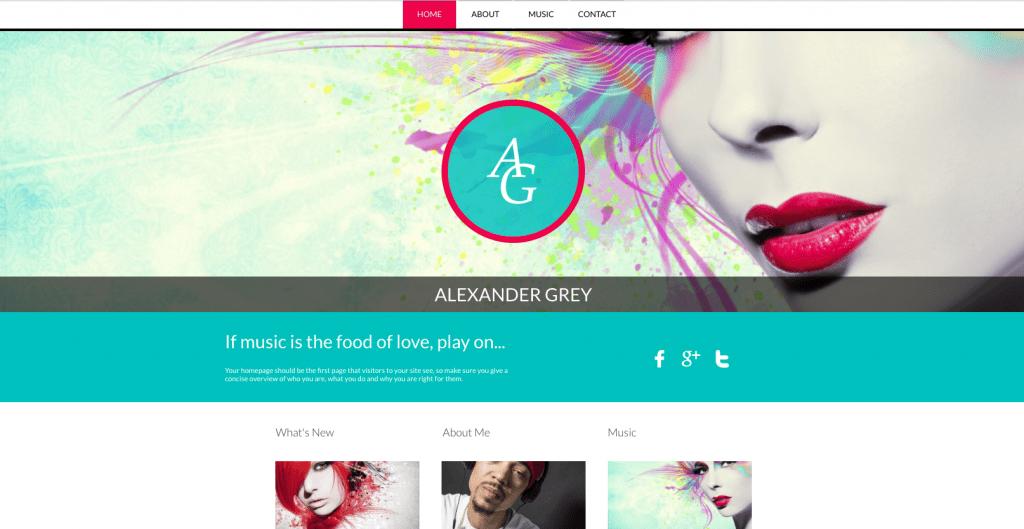 musician website builder template