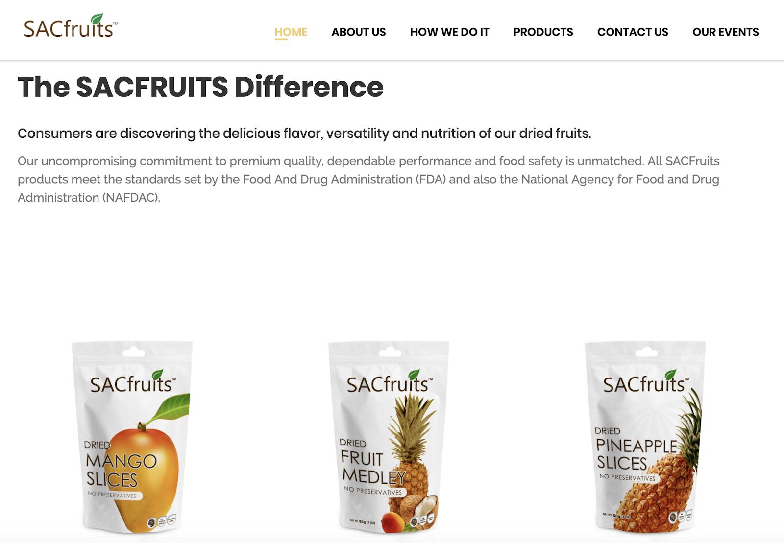 sacfruits side hustle food website
