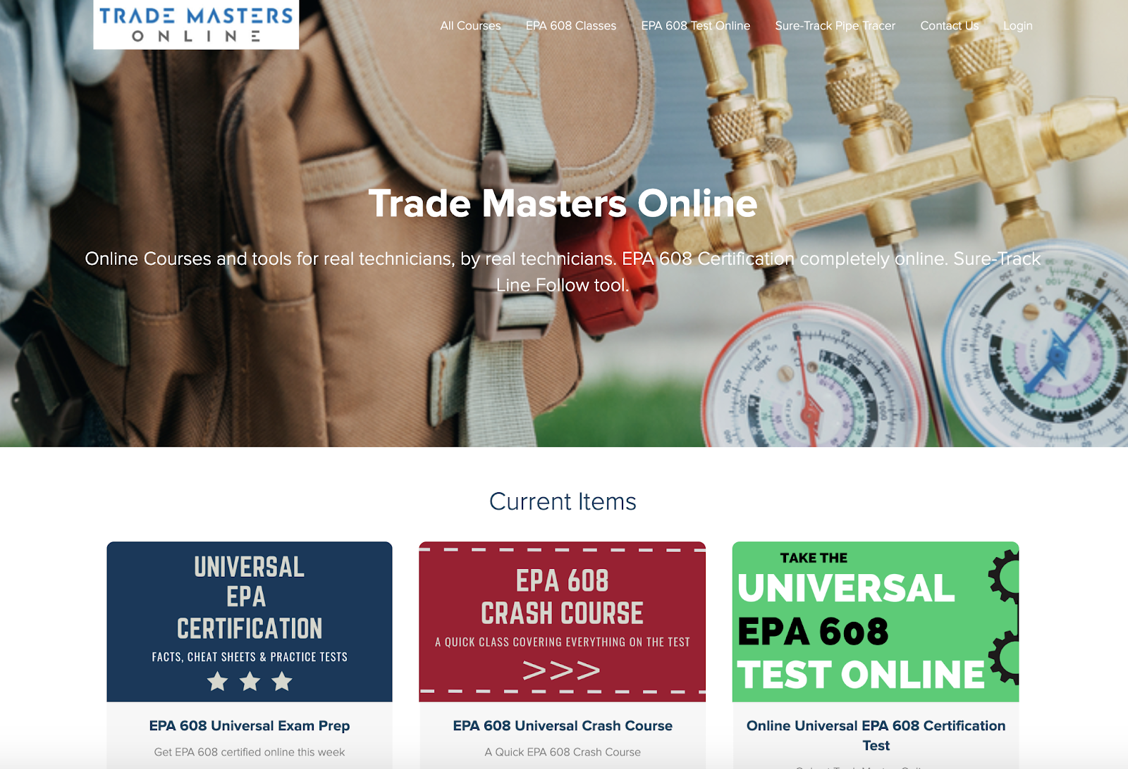 trade masters online plumbing side hustle website