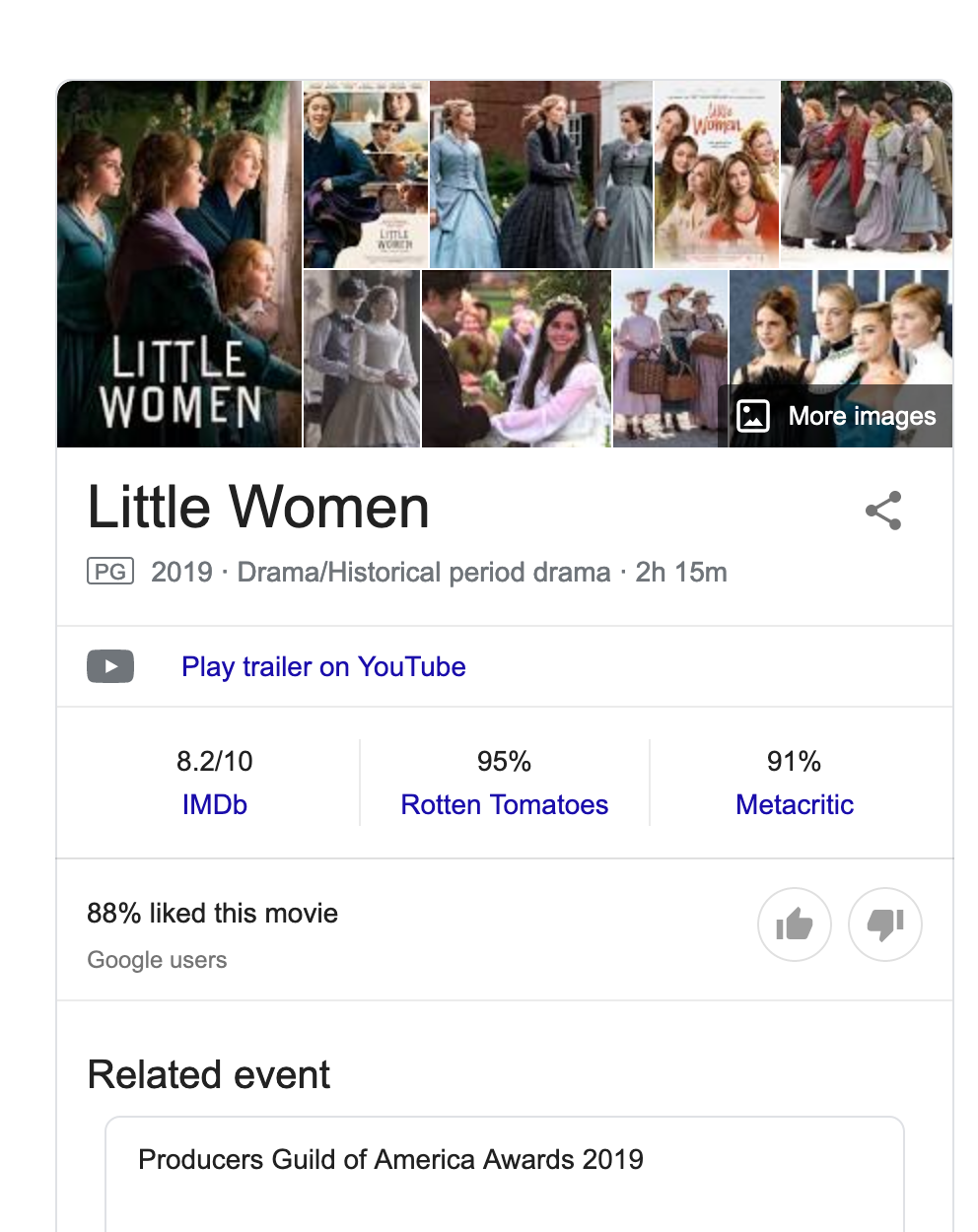 knowledge graph example for little women movie