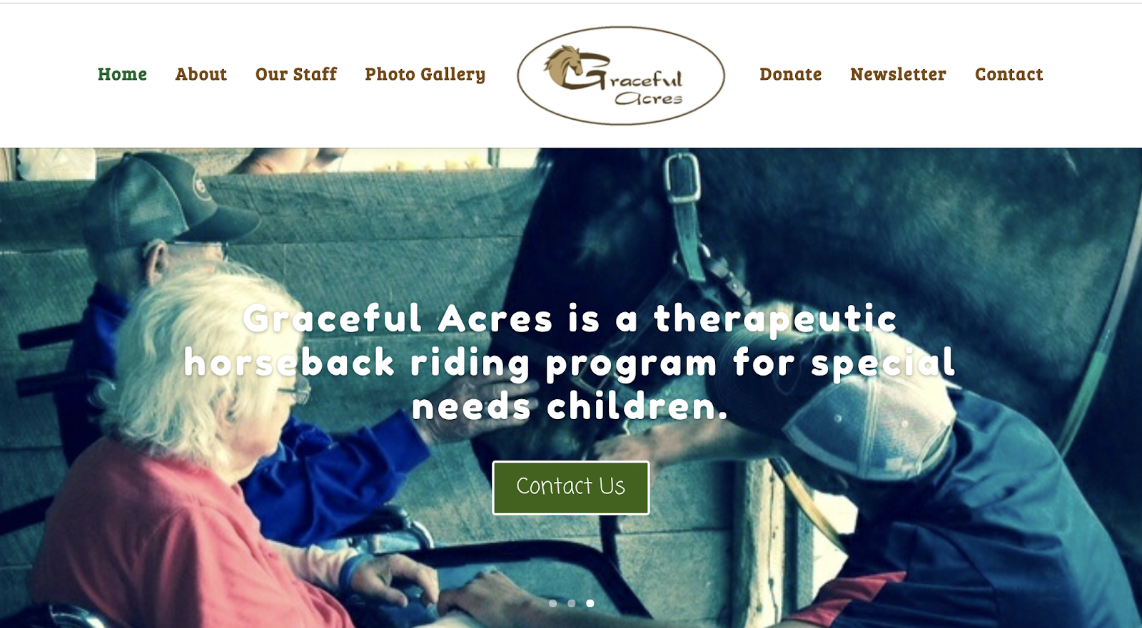 graceful acres nonprofit website