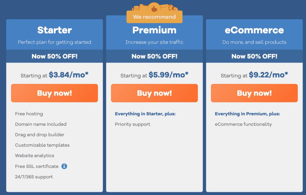 gator website builder plans