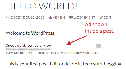 adsense in post ads wordpress plugin