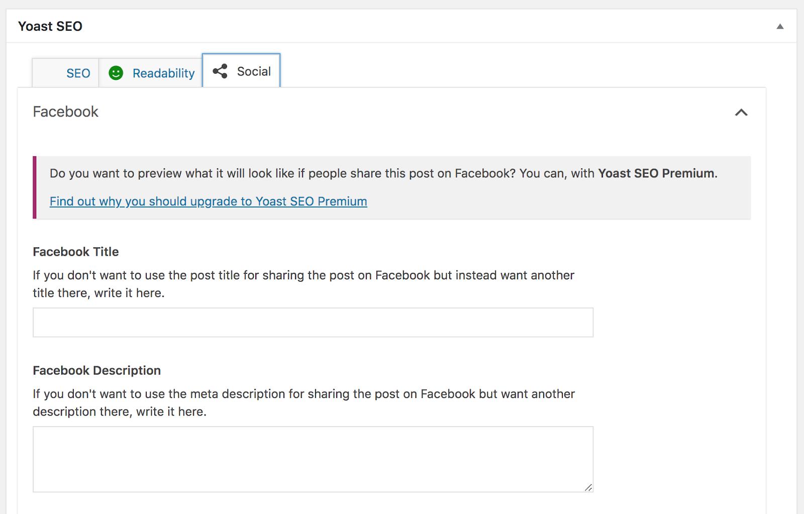yoast seo plugin for wordpress to add meta descriptions