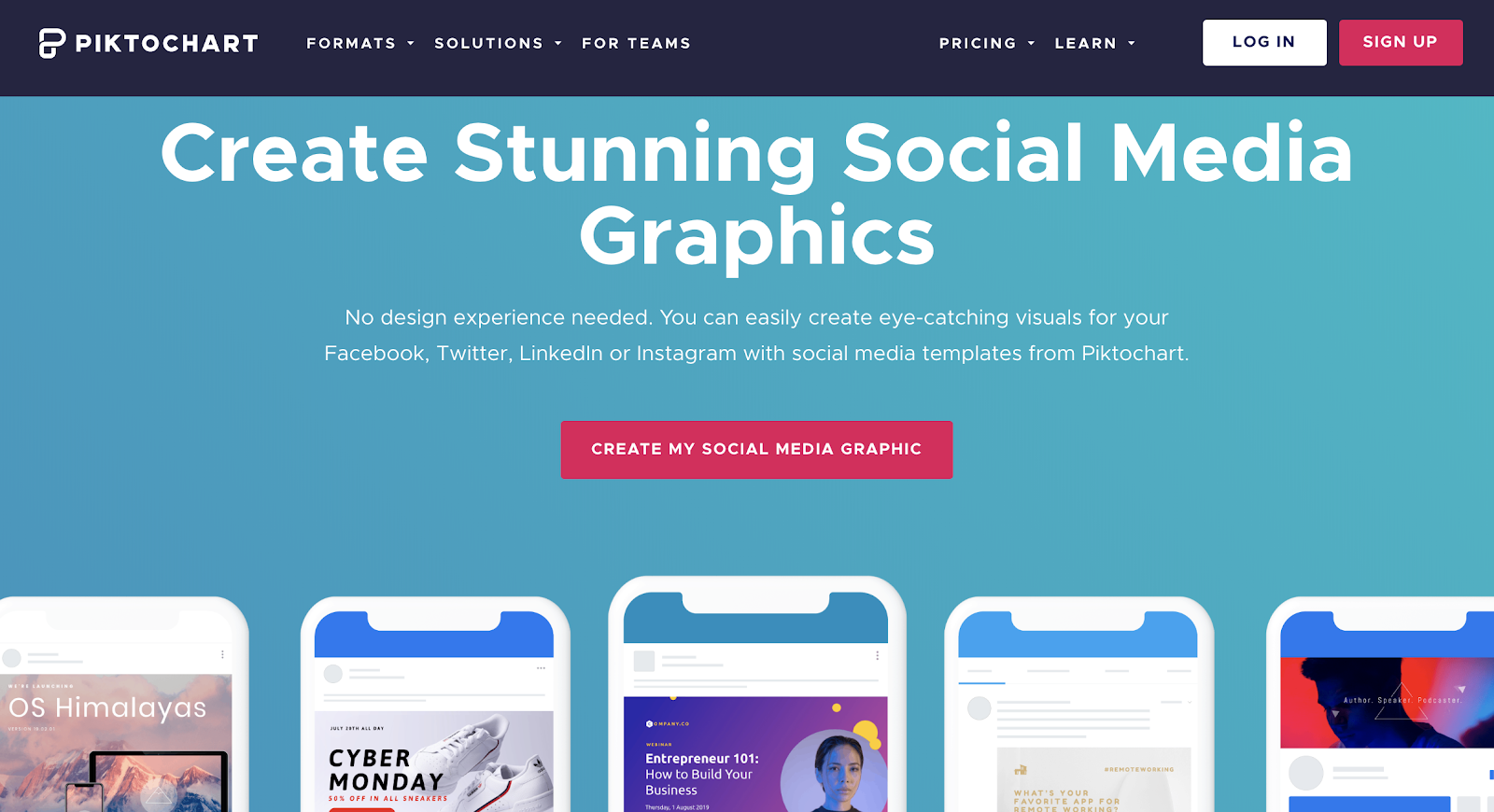 piktochart tool for creating social media graphics