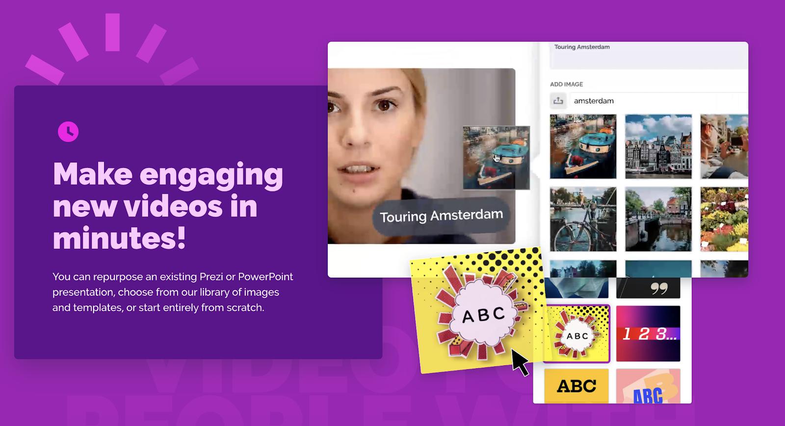 prezi video tool for creating social media videos