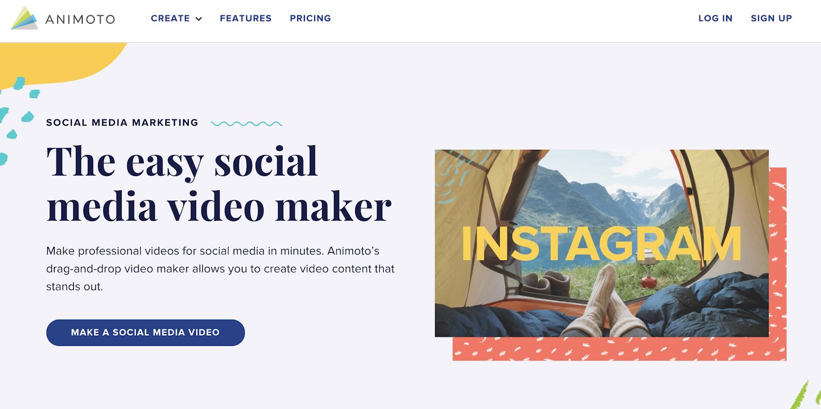 animoto social media video maker tool