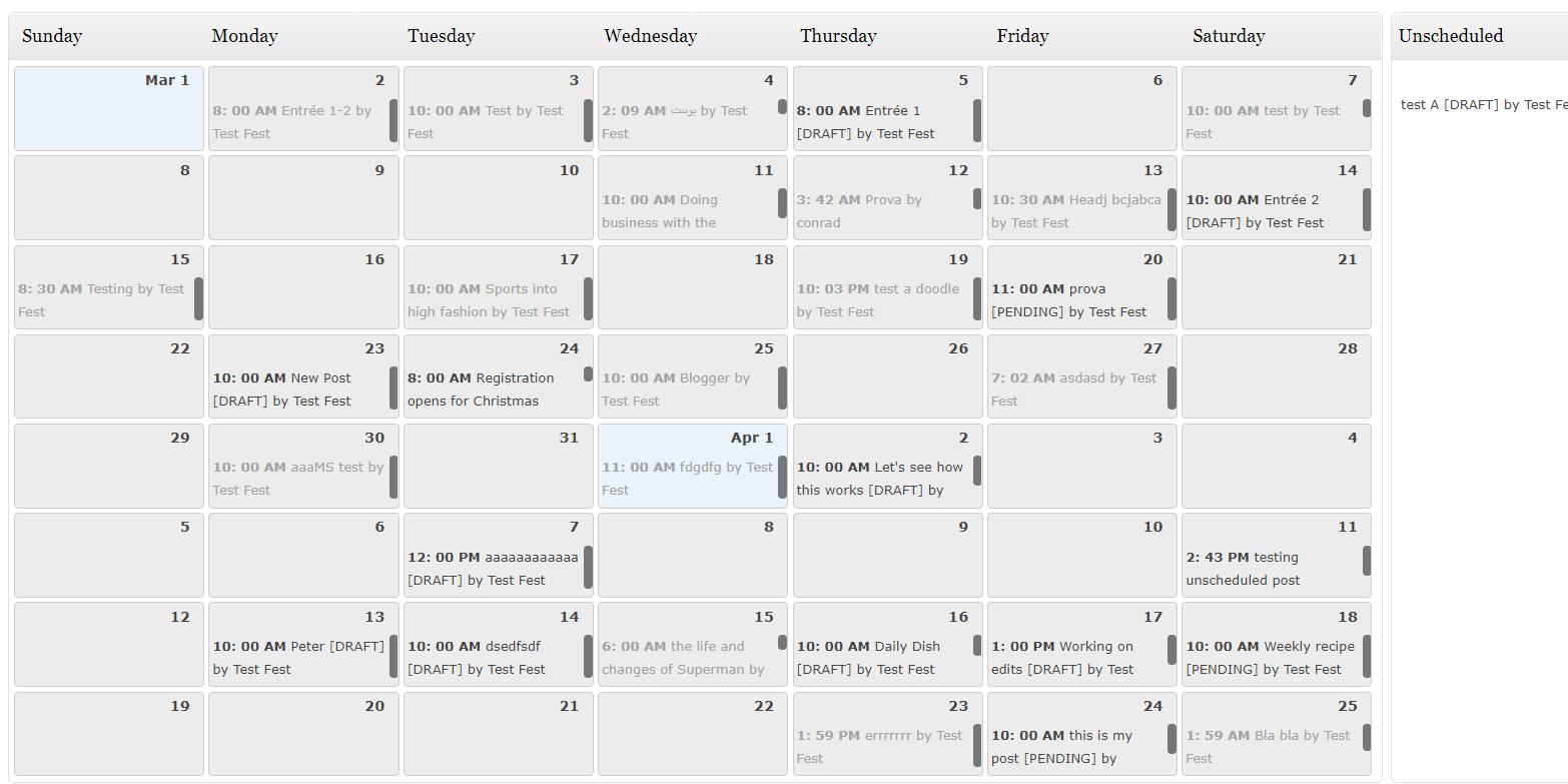 wordpress editorial calendar plugin
