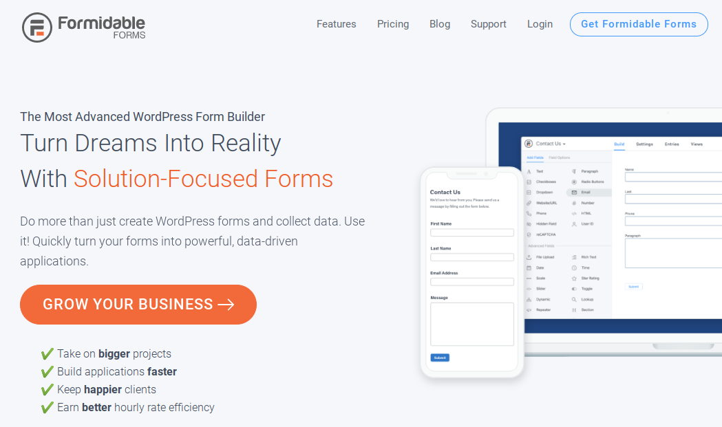 formidable forms wordpress survey plugin