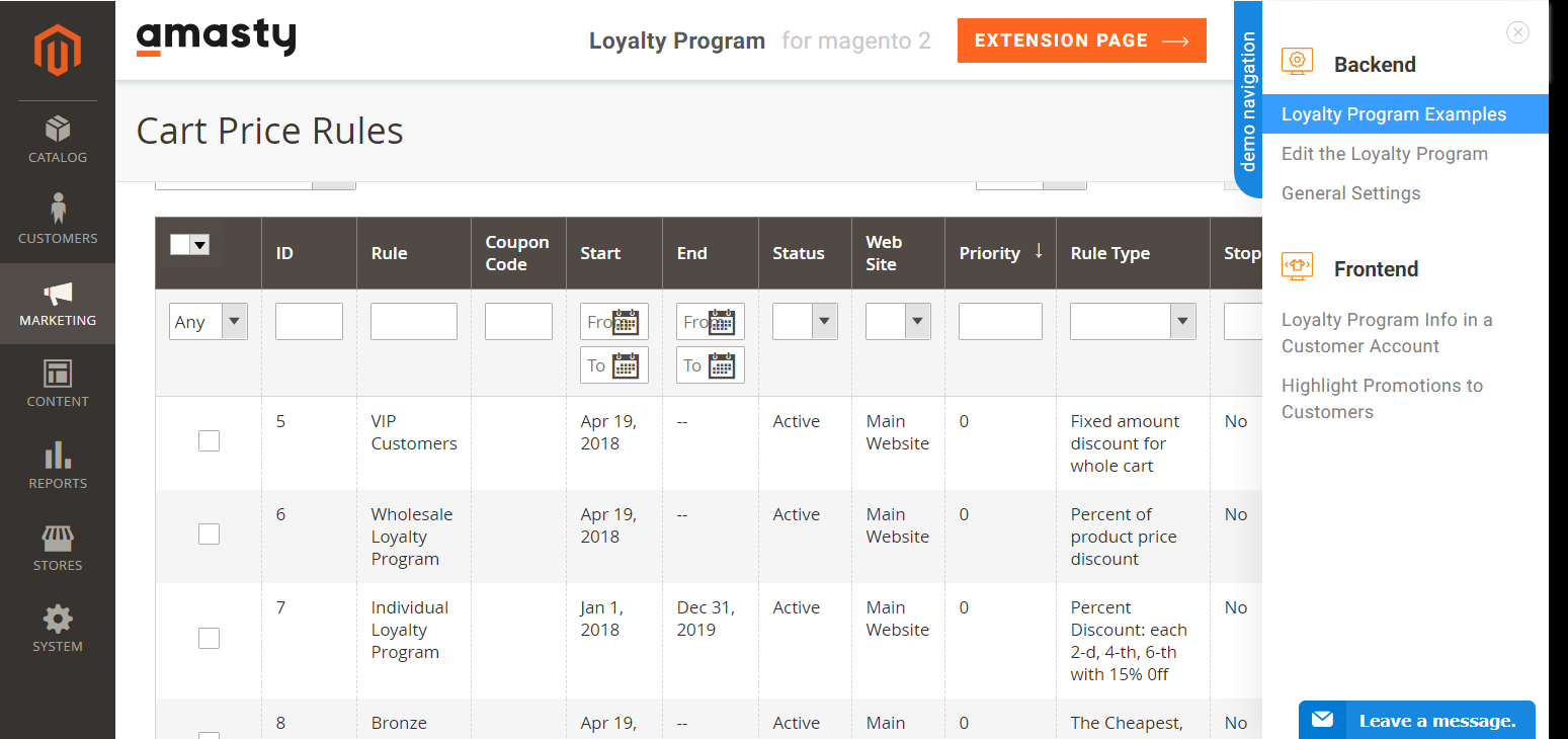 amasty ecommerce loyalty program for magento