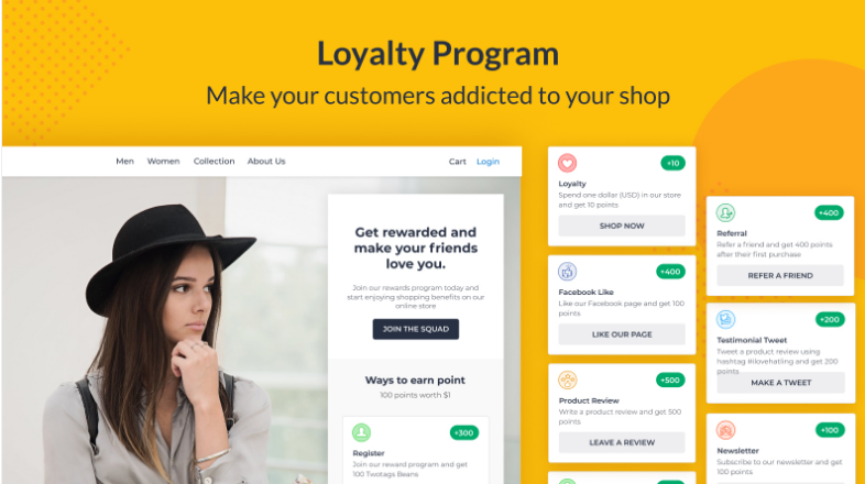 liana by beans loyalty program plugin for wordpress ecommerce sites