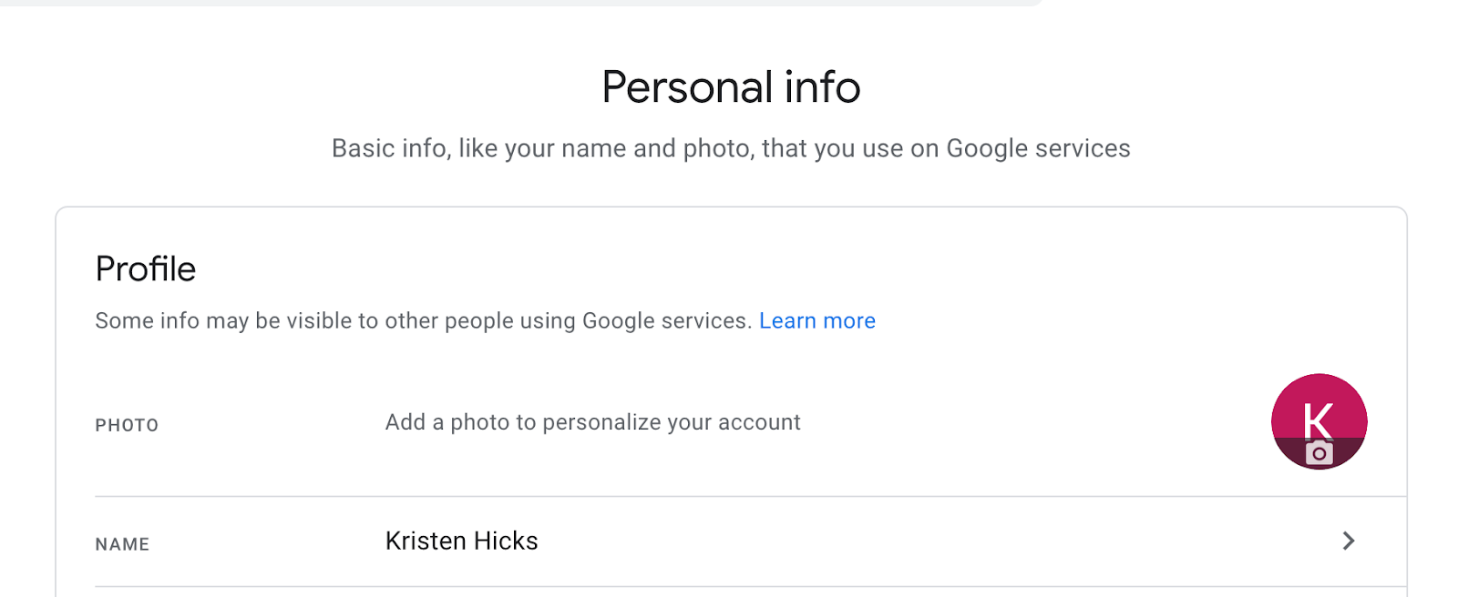 add name and photo to branded email address