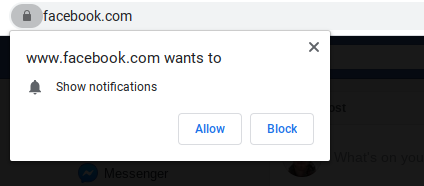 example of push notification opt-in from facebook