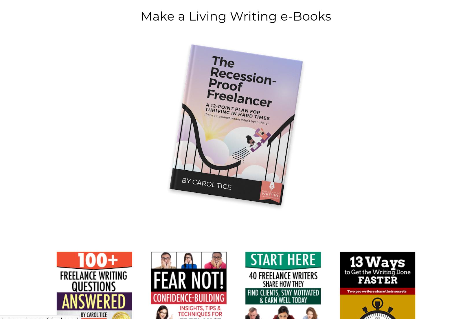 carol tice free ebooks on writing
