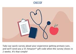 customer survey with $5 gift card as reward