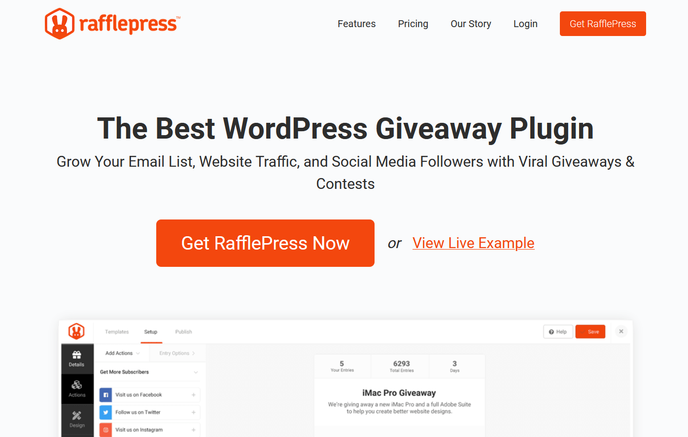 rafflepress wordpress giveaway plugin