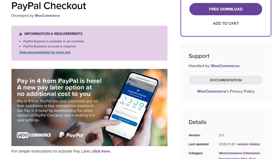 paypal checkout plugin for woocommerce