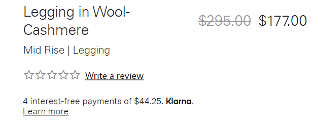 example of buy now pay later with klarna