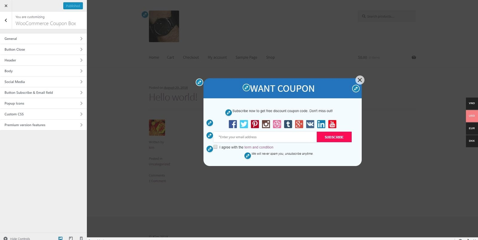 coupon box for woocommerce