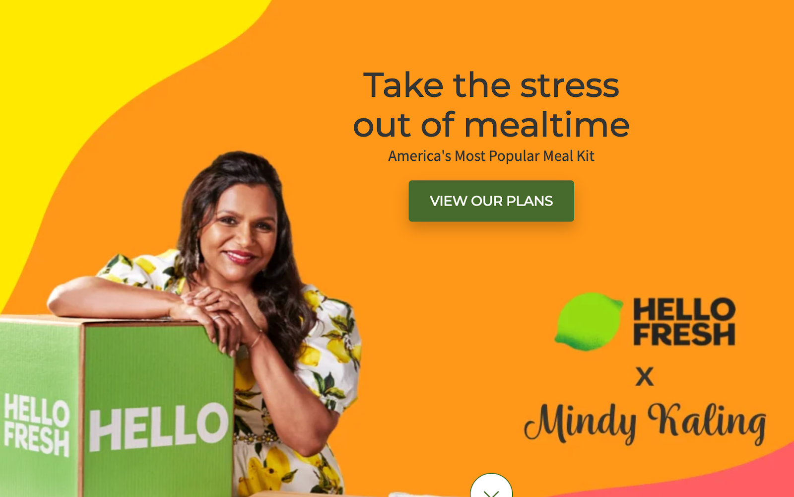 HelloFresh influencer partnership with Mindy Kaling