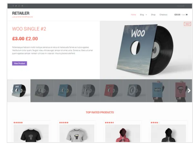Retailer Accessible WordPress Theme