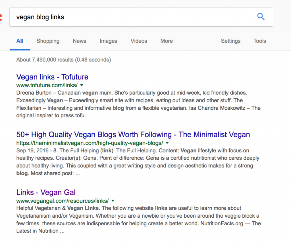 search google for resource pages to find link building opportunities