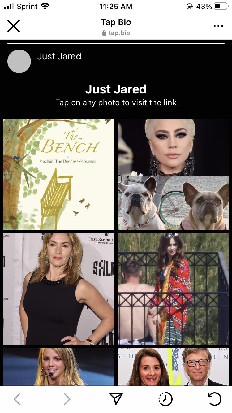 tap bio adds links to instagram photos