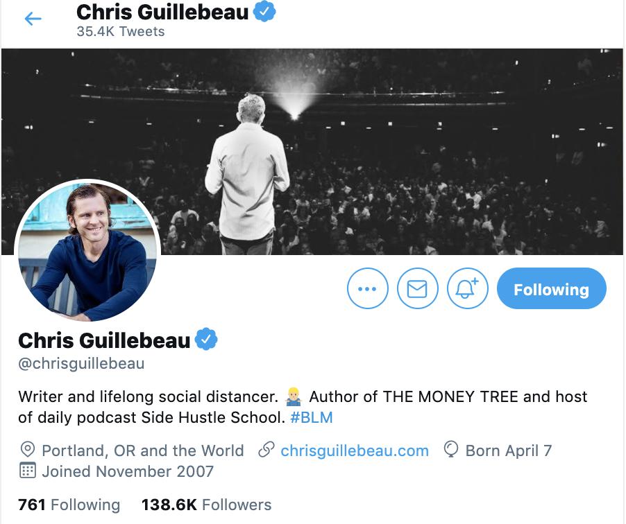 chris guillebeau twitter