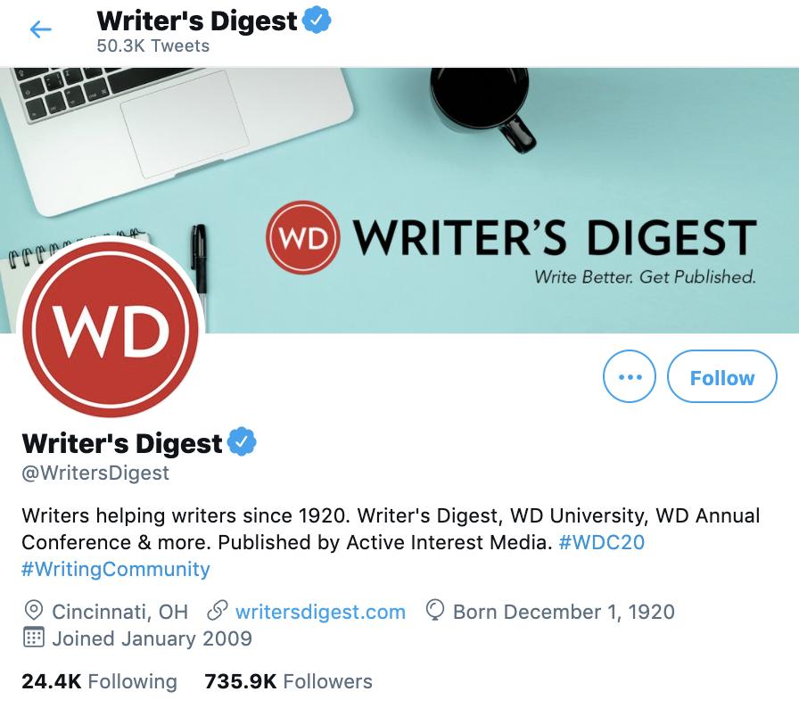writers digest twitter