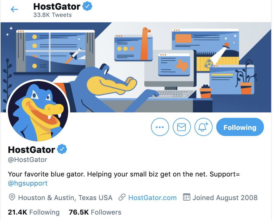 hostgator twitter