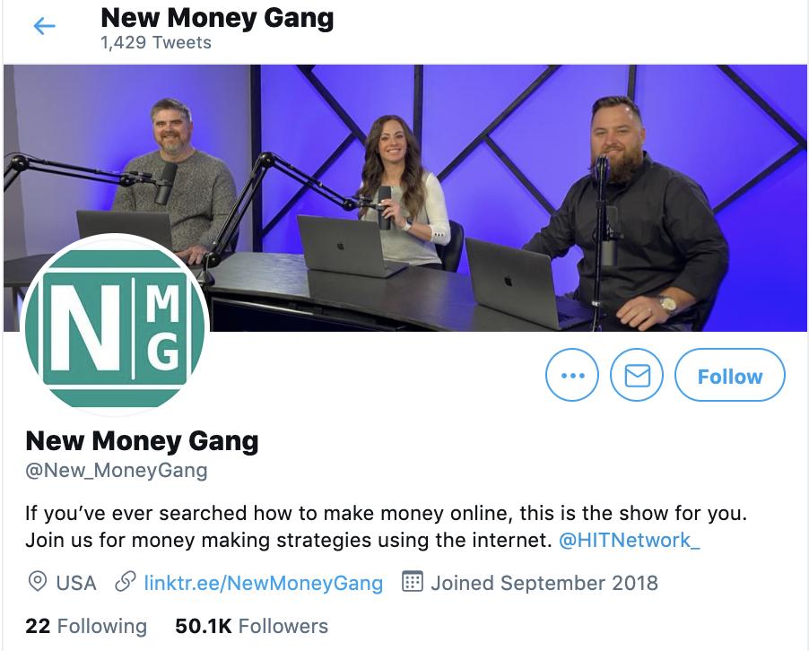 new money gang twitter