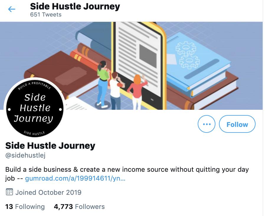 side hustle journey twitter