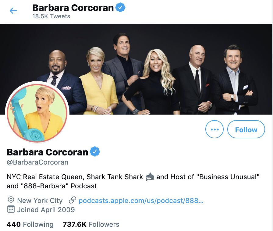 barbara corcoran twitter