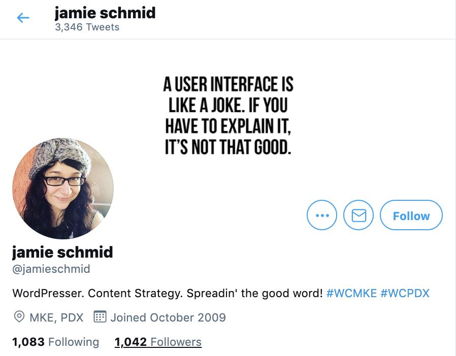 jamie schmid twitter