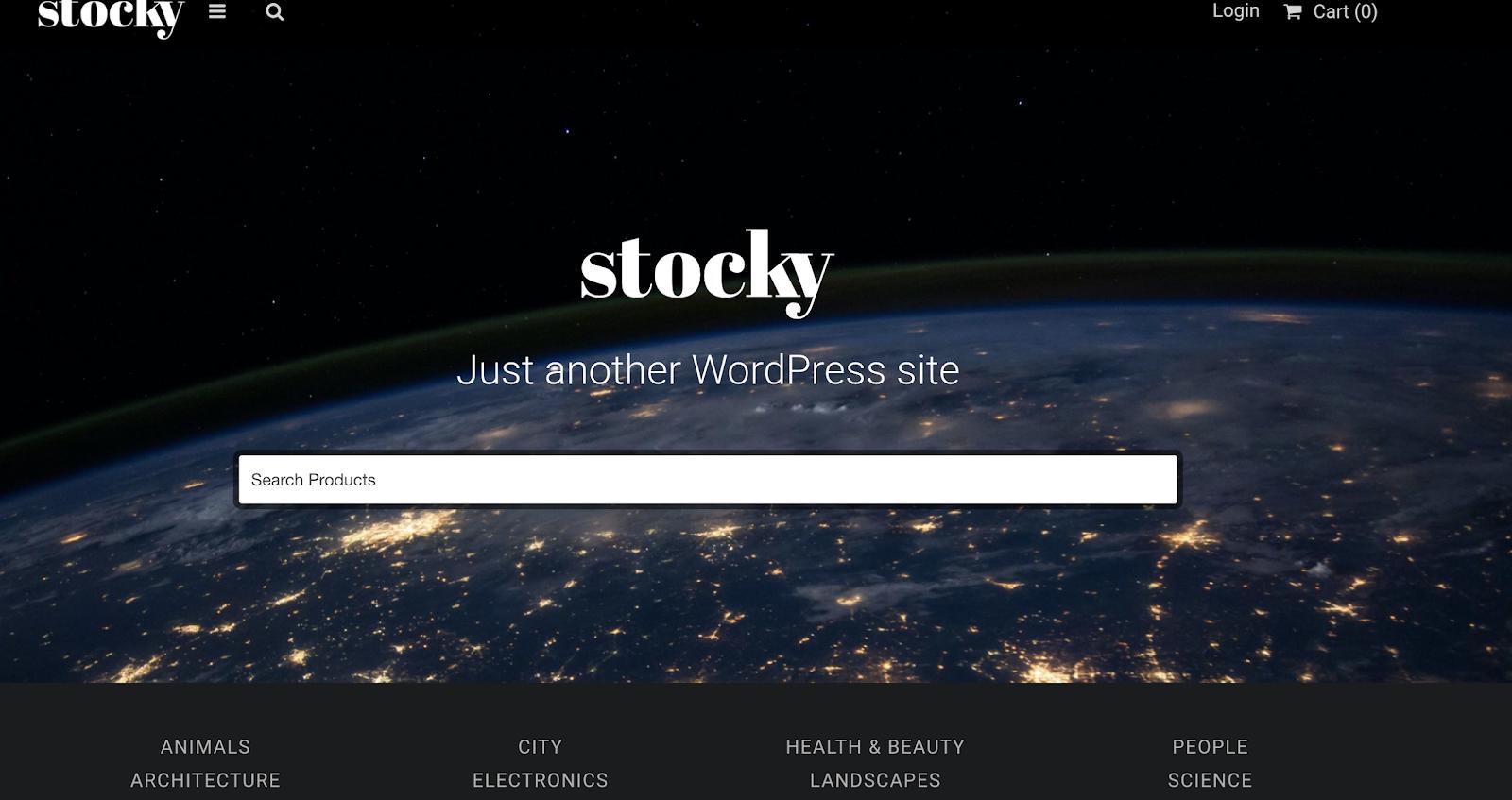 stocky wordpress theme
