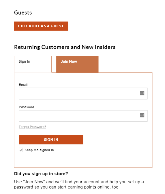 guest checkout reduces friction in decision stage of sales funnel