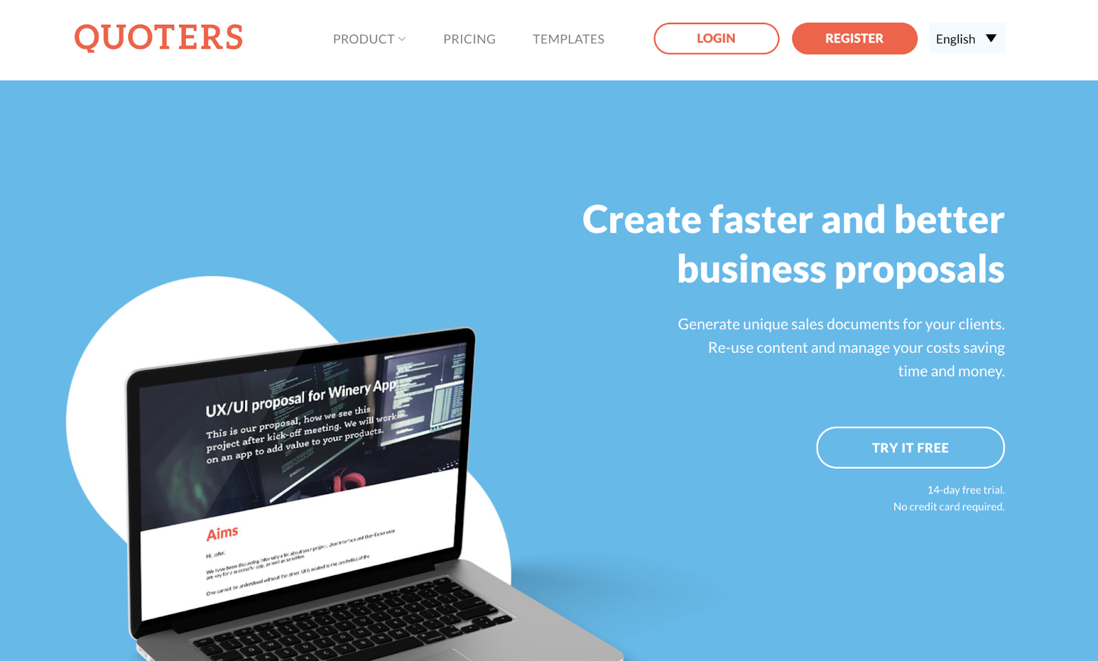 quoters business proposal software for freelancers