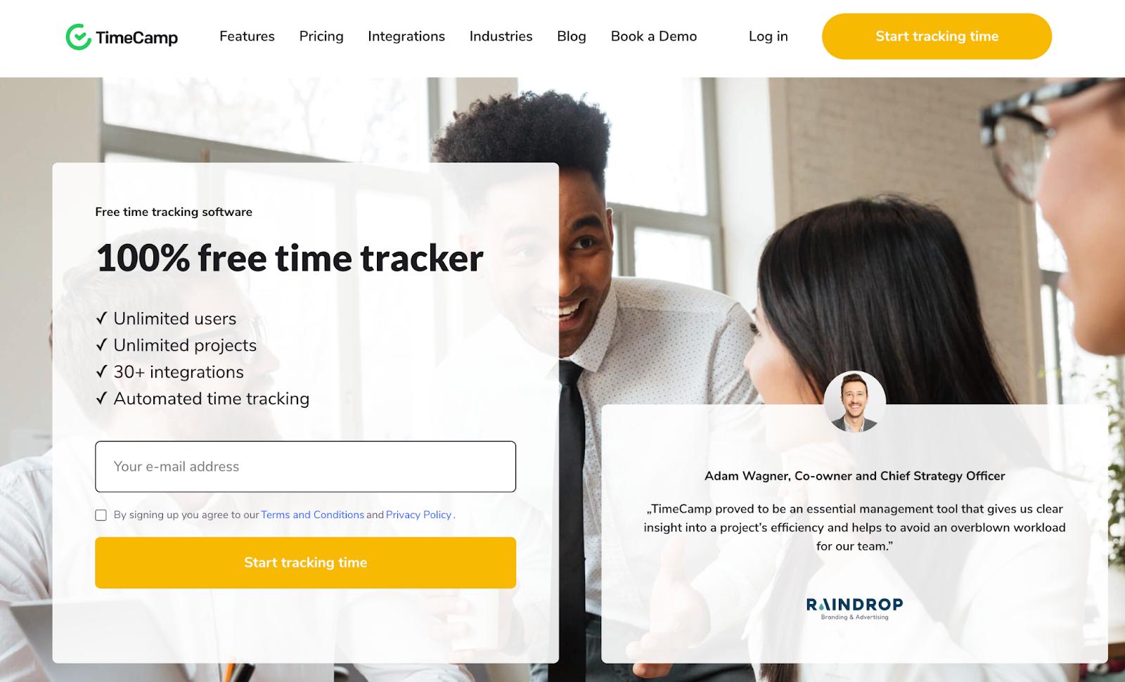 timecamp time tracking software for freelancers