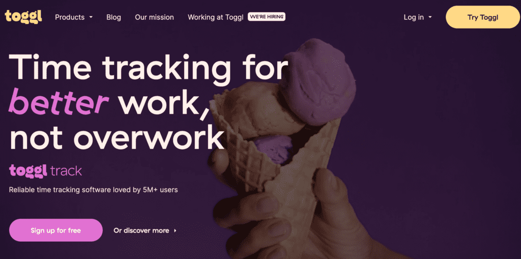 toggl time tracking software for freelancers
