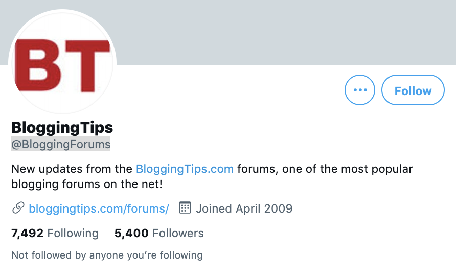 twitter account for bloggingtips