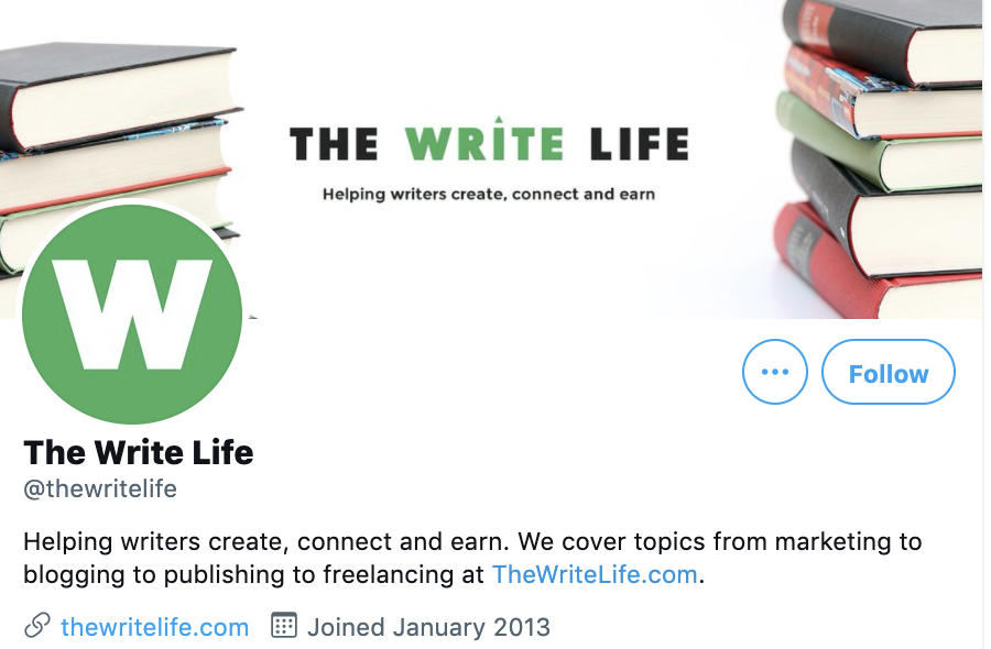 twitter account for the write life