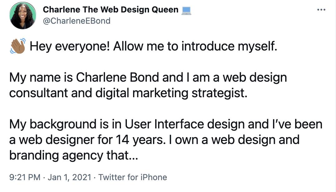 charlene bond twitter account