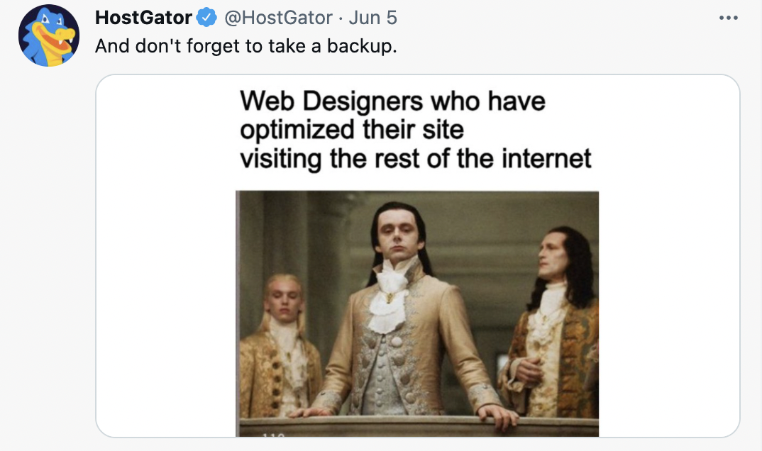 hostgator twitter account