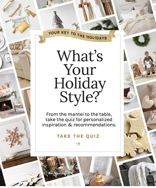 holiday quiz campaign from west elm